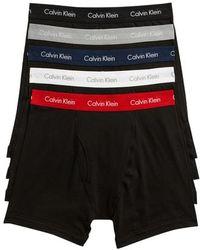 CALVIN KLEIN 205W39NYC - 5-pack Boxer Briefs, Black - Lyst
