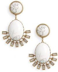 Loren Hope - Howlite Earrings - Lyst