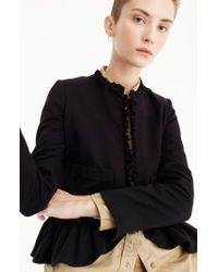 J.Crew | J.crew The Going Out Blazer With Ruffles | Lyst