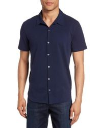 Zachary Prell - Knit Short Sleeve Sport Shirt - Lyst