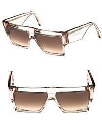 Céline - 60mm Flat Top Sunglasses - - Lyst