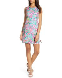 2fbf89839ad51f Lilly Pulitzer Valli Shift Dress in Blue - Lyst
