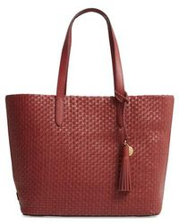 Cole Haan - Payson Rfid Woven Leather Tote - Lyst