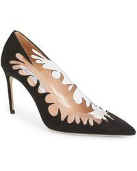 Brian Atwood - Victory Cutout Pointy Toe Pump - Lyst