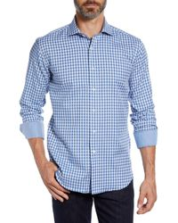 Bugatchi - Shaped Fit Check Sport Shirt - Lyst