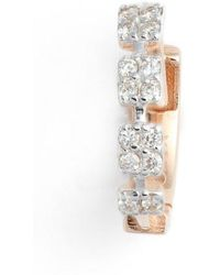 Kismet by Milka - Four Square Diamond Hoop Earring - Lyst