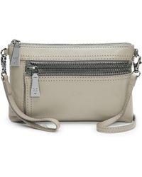 Frye - Lena Zip Leather Crossbody Wristlet Bag - Lyst