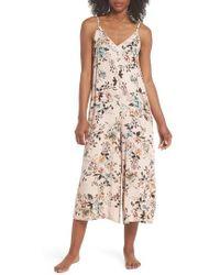 Lacausa - Floral Santi Crop Jumpsuit - Lyst