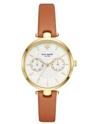 Kate Spade - Holland Leather Strap Watch - Lyst