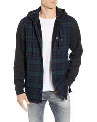 Lacoste - Regular Fit Check Hooded Flannel Shirt - Lyst
