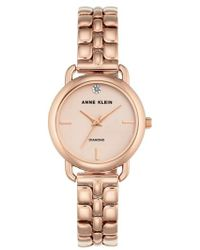 Anne Klein - Diamond Bracelet Watch - Lyst