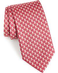 Ferragamo - Fufo Print Silk Tie - Lyst