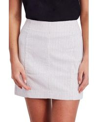 Free People - We The Free By Modern Femme Pinstripe Skirt - Lyst
