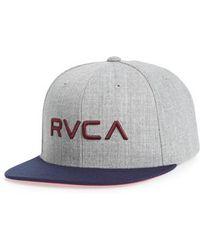 RVCA | Twill Snapback Baseball Cap | Lyst