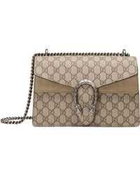 Gucci - Small Dionysus Gg Supreme Canvas & Suede Shoulder Bag - - Lyst