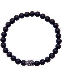 d7bf52dc1 Lyst - Ted Baker Matte Rubber And Leather Bracelet in Black for Men