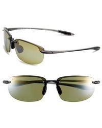 Maui Jim | 'ho'okipa - Polarizedplus2' 63mm Sunglasses - Smoke Grey/ Maui Ht | Lyst
