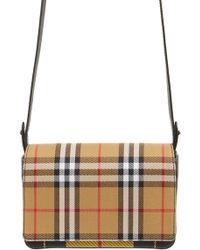 Burberry - Hampshire Tartan Mix Crossbody Bag - - Lyst