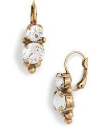 Sorrelli - Jewelry Ornate Crystal Drop Earrings - Lyst