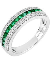 Bony Levy - Diamond & Emerald Band Ring (trunk Show Exclusive) - Lyst