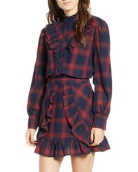 The Fifth Label - Nash Ruffle Plaid Top - Lyst
