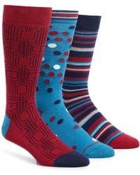 Paul Smith - 3-pack Socks, Blue - Lyst