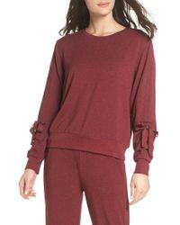 Zella - Gather Sleeve Sweatshirt - Lyst