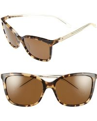 Kate Spade - 'kasie' 55mm Polarized Sunglasses - Havana/ Honey - Lyst