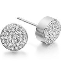 Monica Vinader - 'ava' Diamond Button Stud Earrings - Lyst