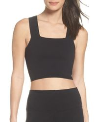 Alo Yoga - Binded Wide Strap Crop Tank - Lyst