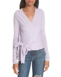 Autumn Cashmere - Cashmere Wrap Sweater - Lyst