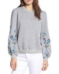 Rebecca Minkoff - Cinda Embroidered Sweatshirt - Lyst