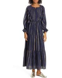 Apiece Apart Francesca Long Sleeve Bib Tier Dress