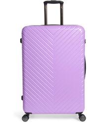 Nordstrom - Chevron 29-inch Spinner Suitcase - Purple - Lyst