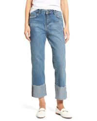 Sincerely Jules - Cuffed Wide Leg Jeans - Lyst