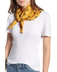 Treasure & Bond - Printed Silk Square Scarf - Lyst