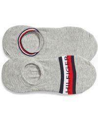 Tommy Hilfiger - 2-pack Logo Liner Socks, Grey - Lyst