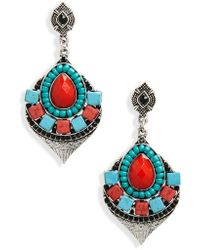 Cara - Chandelier Earrings - Lyst
