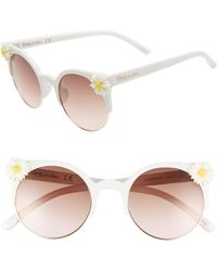 Circus by Sam Edelman - 50mm Daisy Accent Round Sunglasses - - Lyst