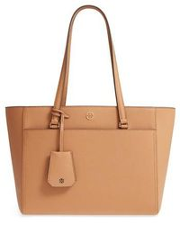 Tory Burch - Small Robinson Leather Tote - - Lyst