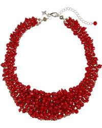 Panacea - Crystal Bead Statement Necklace - Lyst