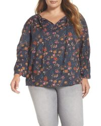 Lucky Brand - Floral Blouse - Lyst
