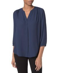 NYDJ | Pleat Back Blouse | Lyst