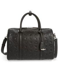 MCM - Signature Monogram Embossed Leather Crossbody Bag - - Lyst