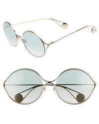 Gucci - 58mm Gradient Lens Round Sunglasses - - Lyst