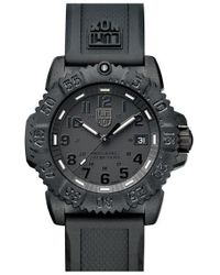 Luminox - 'sea - Navy Seal Colormark' Silicone Strap Watch - Lyst