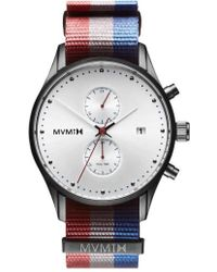 MVMT - Voyager Chronograph Canvas Strap Watch - Lyst