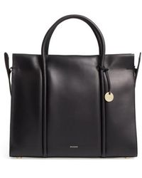 Skagen - Katryn Recessed Leather Satchel - Lyst