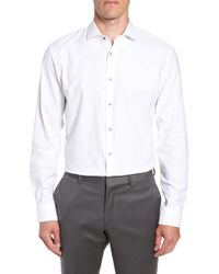 Nordstrom - Tech-smart Trim Fit Stretch Texture Dress Shirt - Lyst
