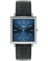 Henry London - Heritage Leather Strap Watch - Lyst